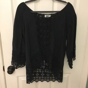 Nightcap by Carisa lace crochet boho top